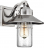 Feiss - OL13900PBS - Boynton Painted Brushed Steel 10.75 Inch Outdoor Wall Lantern