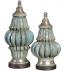 Uttermost - 19546 - Fatima Sky Blue Decorative Urns (Set of 2)