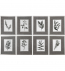 Uttermost - 33658 - Uttermost Sepia Gray Leaves Prints (Set of 8)