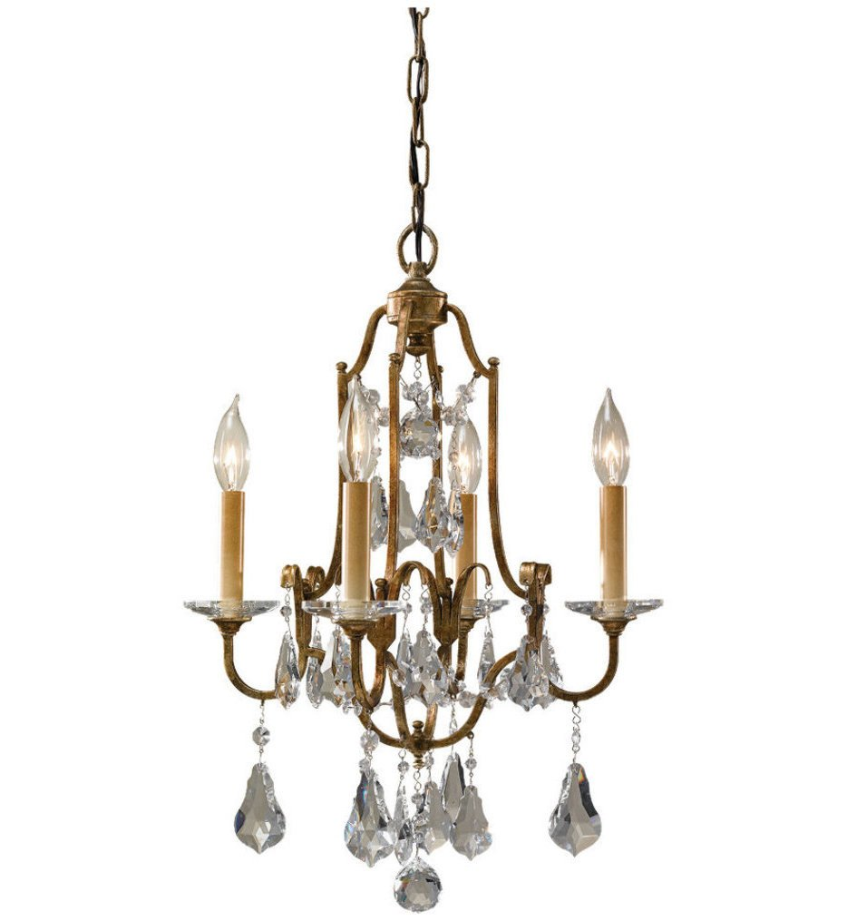 "Feiss - F2480/4OBZ - Valentina 16.25"" Chandelier"