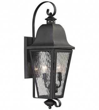ELK Lighting - 47101/2 - Forged Brookridge Charcoal 8 Inch 2 Light Outdoor Wall Sconce