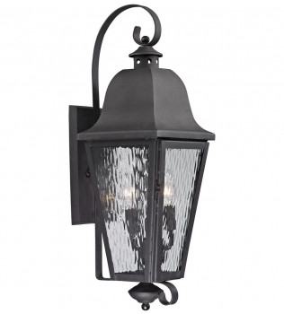 ELK Lighting - 47102/3 - Forged Brookridge Charcoal 10 Inch 3 Light Outdoor Wall Sconce