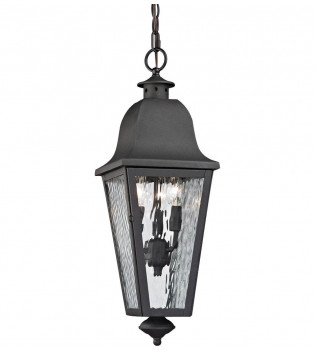 ELK Lighting - 47104/3 - Forged Brookridge Charcoal 23 Inch 3 Light Outdoor pendant