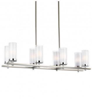 Feiss - F2986/8SN/CH - Jonah Satin Nickel/Chrome 8 Light Chandelier