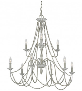 Feiss - F3241/9WGR - Maryville Washed Grey 9 Light Chandelier