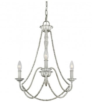 Feiss - F3242/3WGR - Maryville Washed Grey 3 Light Chandelier