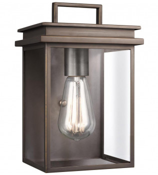 Feiss - OL13600ANBZ - Glenview Antique Bronze 10 Inch Outdoor Wall Lantern
