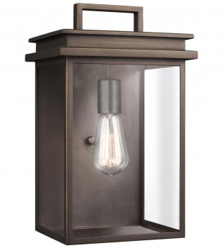 Feiss - OL13602ANBZ - Glenview Antique Bronze 14.75 Inch Outdoor Wall Lantern