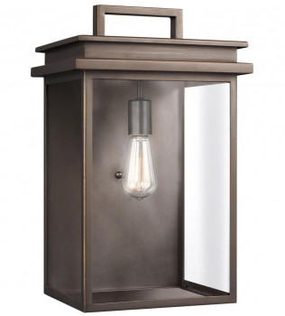 Feiss - OL13603ANBZ - Glenview Antique Bronze 18.5 Inch Outdoor Wall Lantern