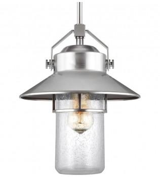Feiss - OL13911PBS - Boynton Painted Brushed Steel 13 Inch Outdoor Hanging Lantern