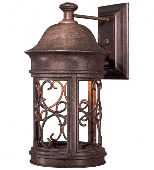 The Great Outdoors - 8282-A61 - Sage Ridge 16 Inch Vintage Rust Outdoor Wall Sconce