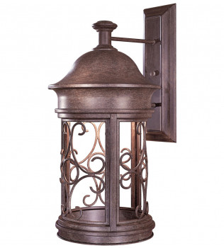 The Great Outdoors - 8283-A61 - Sage Ridge 22.5 Inch Vintage Rust Outdoor Wall Sconce