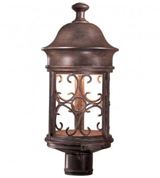 The Great Outdoors - 8286-A61 - Sage Ridge 19 Inch Vintage Rust Outdoor Post Mount
