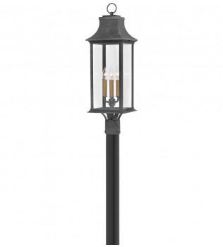 Hinkley Lighting - 2931DZ - Adair Aged Zinc Outdoor Post Mount