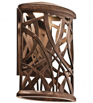 Kichler - 49248AGZLED - Maya Palm Aged Bronze 7.75 Inch Light Outdoor Wall Sconce