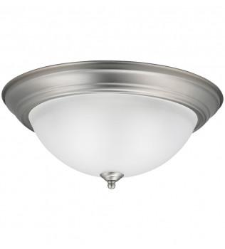 Kichler - 8116NI - Builder Brushed Nickel 15.25 Inch 3 Light Flush Mount with Satin Etched Glass