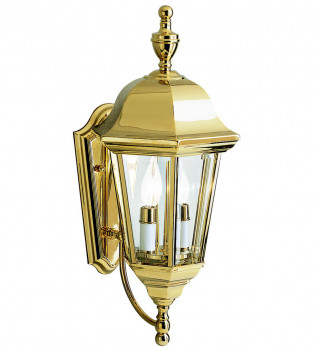 Kichler - 9439PB - Grove Mill Polished Brass 9.5 Inch 2 Light Outdoor Wall Sconce