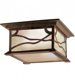 Kichler - 9838DCO - Morris Distressed Copper 11.75 Inch 2 Light Outdoor Flush Mount