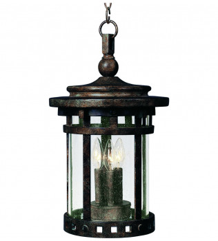 Maxim Lighting - 3138CDSE - Santa Barbara Sienna 17.5 Inch 3 Light Incandescent Outdoor Hanging Lantern