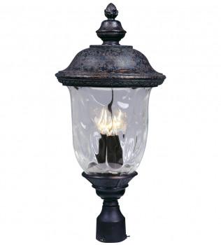 Maxim Lighting - 3420WGOB - Carriage House Oriental Bronze 26.5 Inch 3 Light Incandescent Outdoor Post Light
