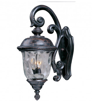 Maxim Lighting - 3497WGOB - Carriage House Oriental Bronze 26.5 Inch 3 Light Incandescent Outdoor Wall Mount