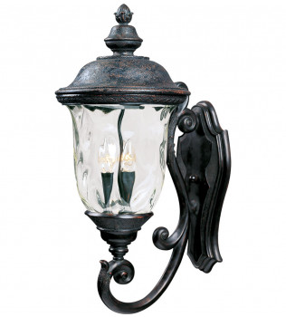 Maxim Lighting - 40424WGOB - Carriage House Oriental Bronze 26.5 Inch 3 Light Incandescent Outdoor Wall Mount