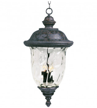 Maxim Lighting - 40428WGOB - Carriage House Oriental Bronze 28 Inch 3 Light Incandescent Outdoor Hanging Lantern