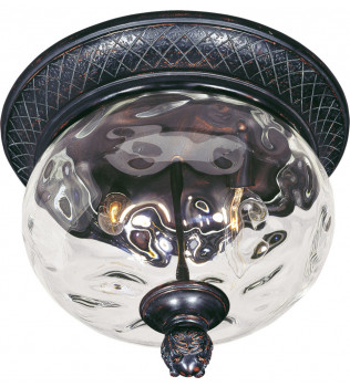 Maxim Lighting - 40429WGOB - Carriage House Oriental Bronze 9.5 Inch 2 Light Incandescent Outdoor Flush Mount