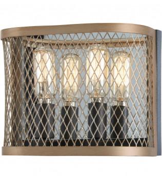 Minka-Lavery - 4682-107 - Marsden Commons Smoked Iron with Aged Gold 2 Light Bath Vanity Light