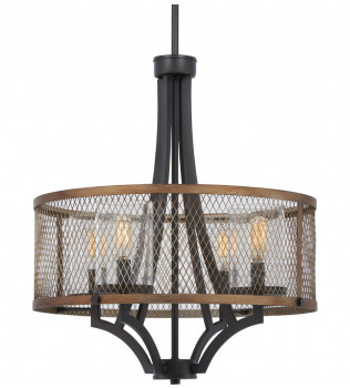 Minka-Lavery - 4694-107 - Marsden Commons Smoked Iron with Aged Gold 21 Inch 4 Light Pendant