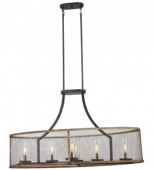 Minka-Lavery - 4696-107 - Marsden Commons Smoked Iron with Aged Gold 6 Light Island Light