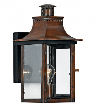 Quoizel - Chalmers Aged Copper 1 Light Outdoor Wall Lantern