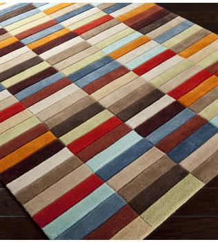 Surya - Cosmopolitan Multicolor Rectangles Hand Tufted Rug