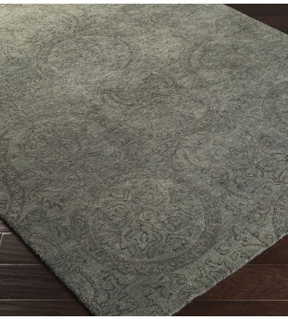 Surya - Henna Dark Forest Medallion and Damasks Hand Tufted Rug