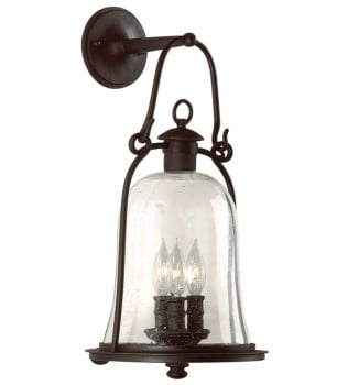 Troy Lighting - B9463NB - Owings Mill Natural Bronze 3 Light Outdoor Wall Lantern