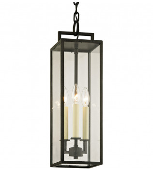 Troy Lighting - Beckham 3 Light Outdoor Hanging Lantern