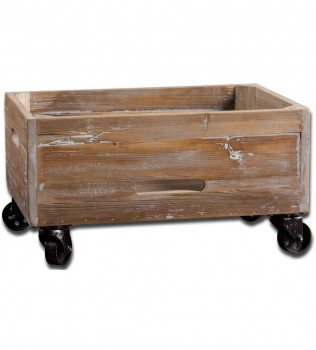 Uttermost - 24247 - Stratford Reclaimed Wood Rolling Box