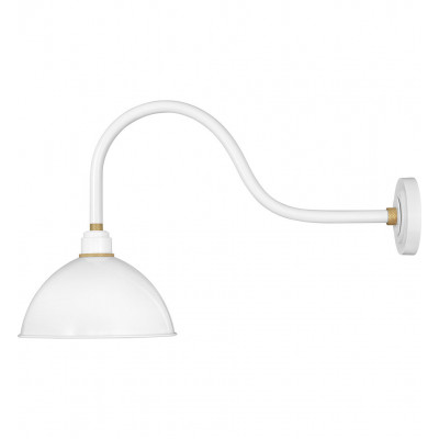 """Foundry Dome 17"""" Outdoor Wall Sconce"""