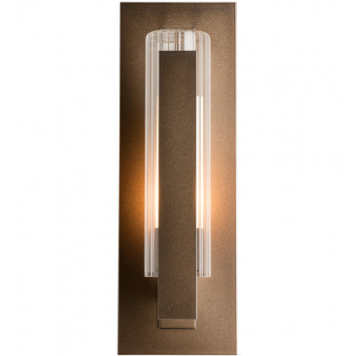 Vertical Bar Fluted Glass Small Outdoor Wall Sconce