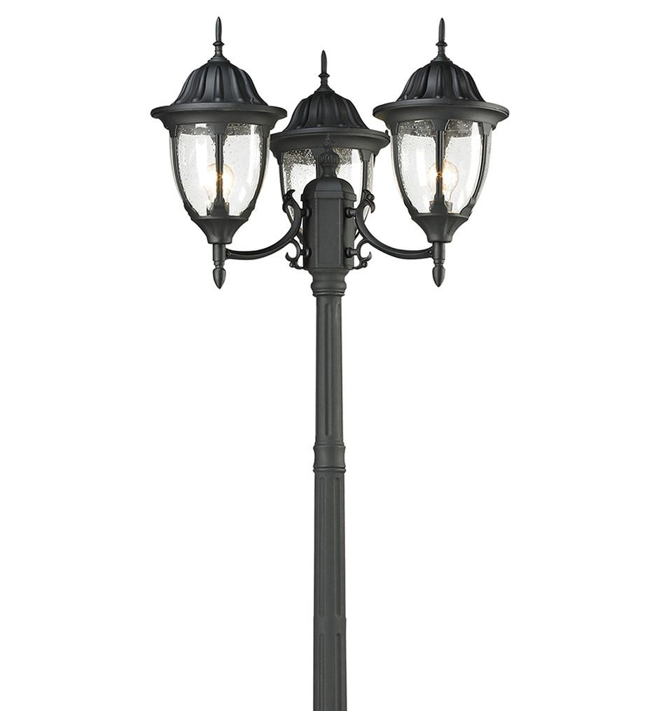 ELK Lighting - 45089/3 - Central Square Textured Matte Black 26 Inch 3 Light Outdoor Post Light