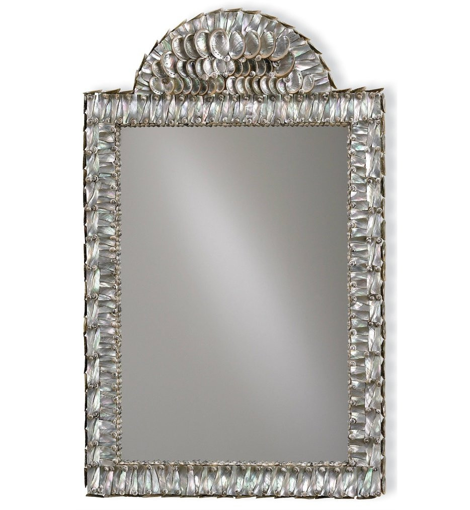 Currey & Company - 1325 - Abalone 34 Inch Mirror