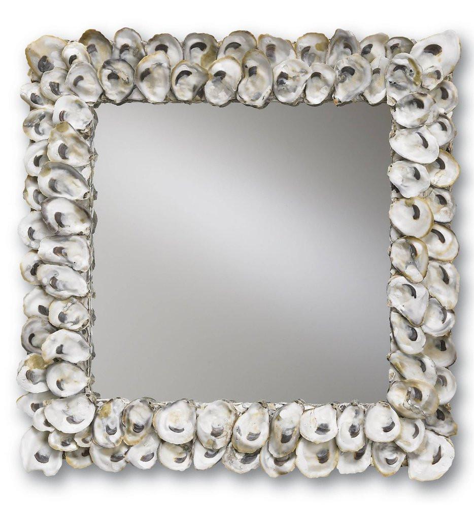 Currey & Company - 1348 - Oyster Shell 20 Inch Mirror
