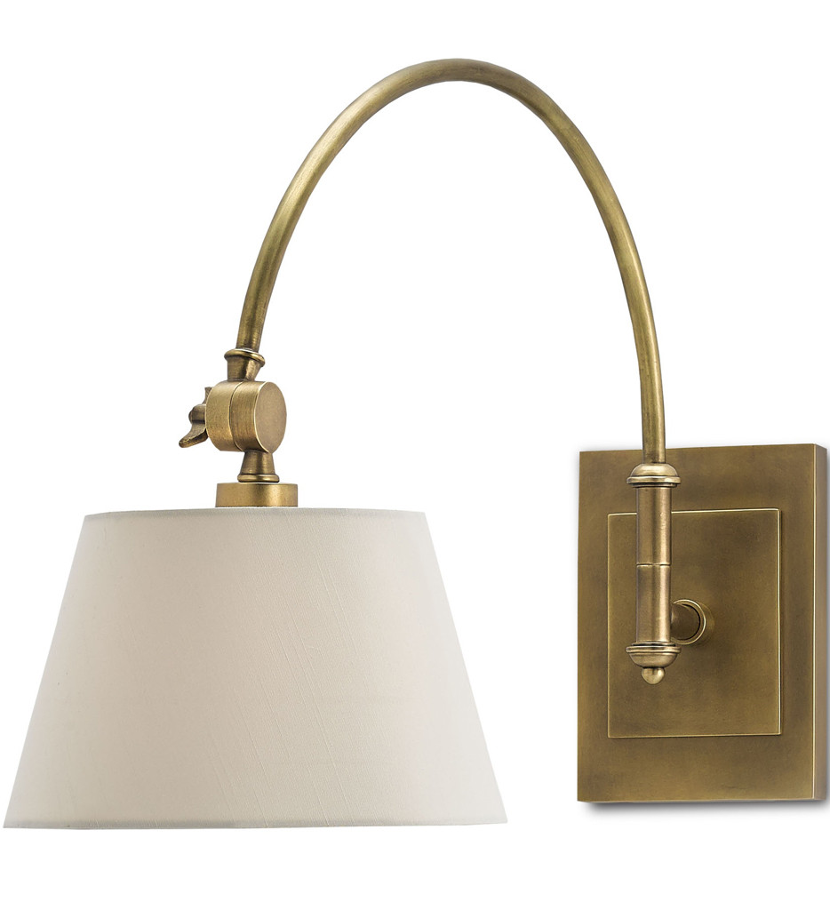 Currey & Company - 5000-0003 - Ashby Swing-Arm  Sconce with Antique Brass Finish