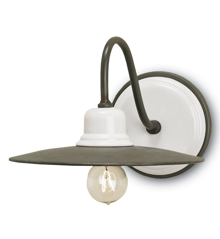 Currey & Company - 5154 - Eastleigh 1 Light Wall Sconce with Hiroshi grey/White Finish