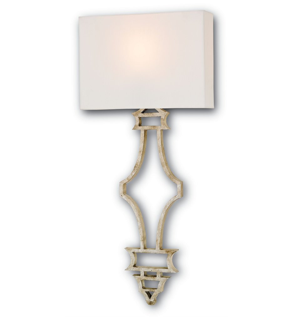 Currey & Company - 5173 - Eternity 1 Light Wall Sconce with Silver Granello Finish