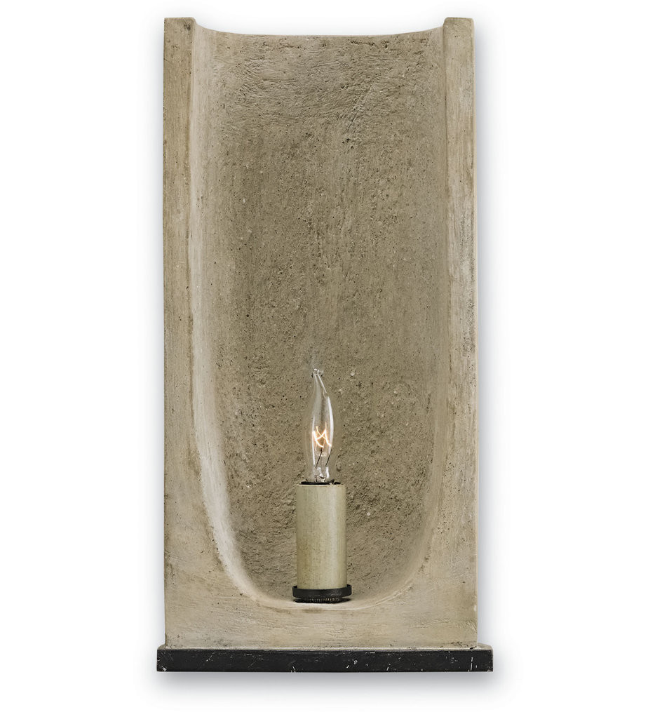 Currey & Company - 5208 - Rowland 1 Light Wall Sconce with Aged Steel/Portland Finish
