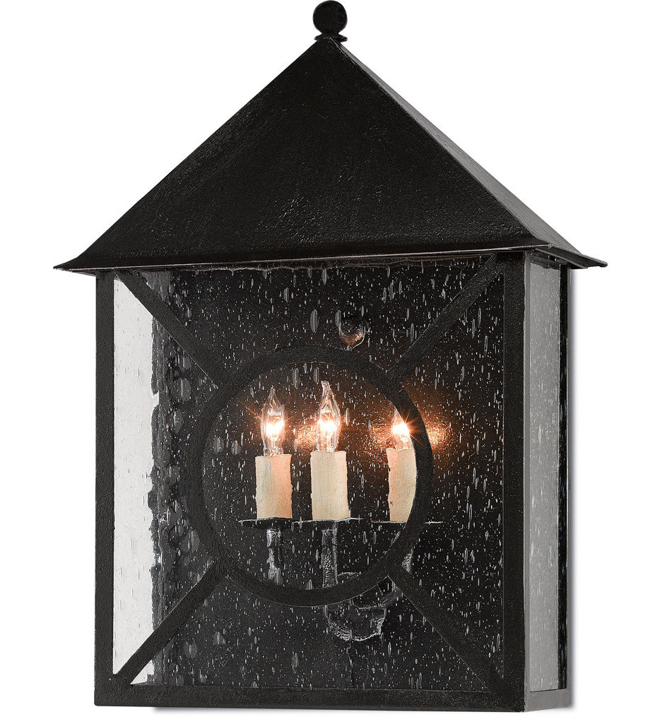 Currey & Company - 5500-0002 - Ripley Midnight 20 Inch Outdoor Wall Sconce