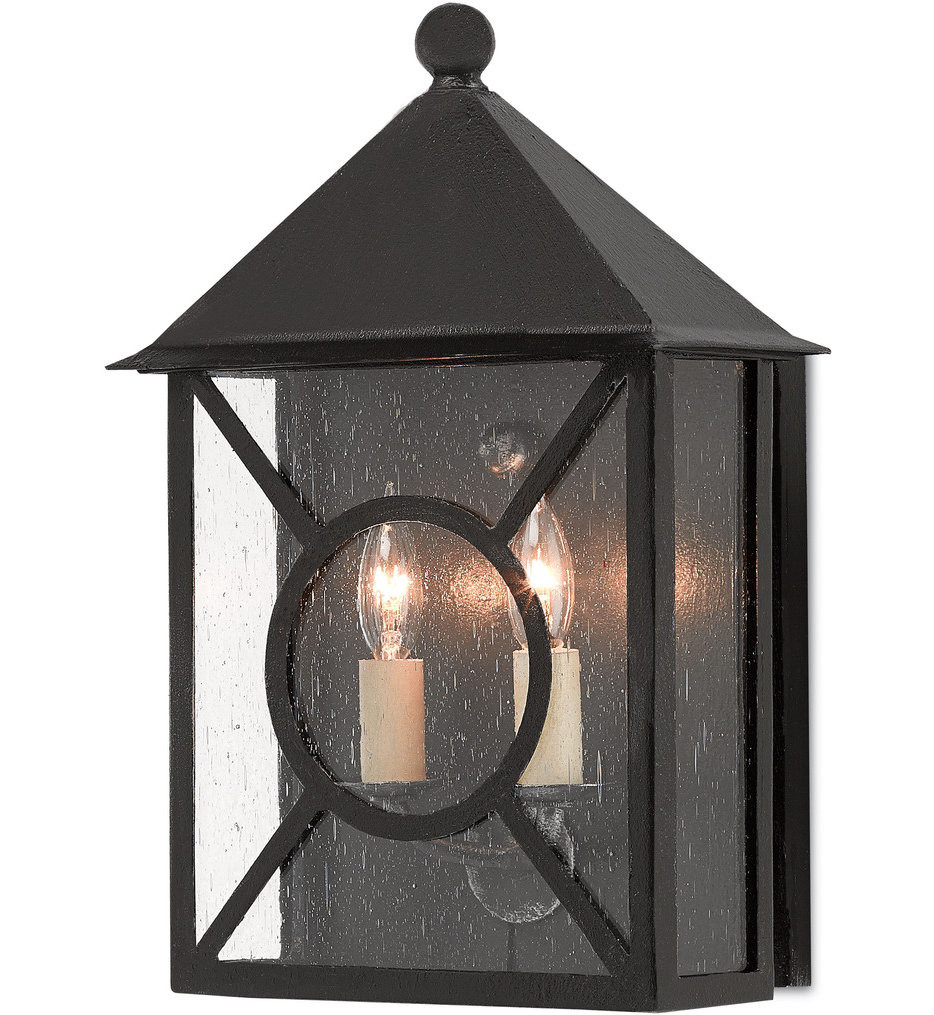 Currey & Company - 5500-0003 - Ripley Midnight 15.25 Inch Outdoor Wall Sconce
