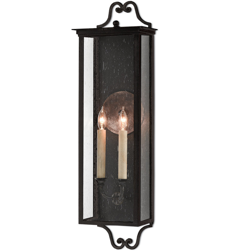 Currey & Company - 5500-0008 - Giatti Midnight 30.25 Inch Outdoor Wall Sconce