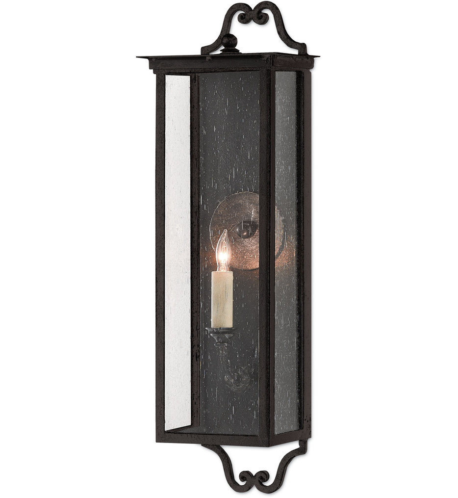 Currey & Company - 5500-0009 - Giatti Midnight 23.75 Inch Outdoor Wall Sconce
